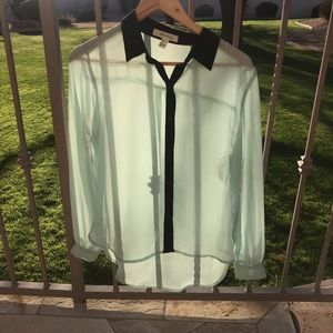Forever 21 Mint Botton Up Blouse
